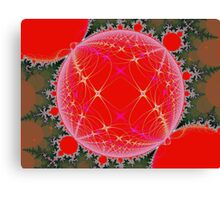 Fractal Christmas Canvas Print