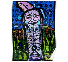 Pop Art Native American Indian  Portrait Poster