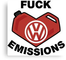 Fuck Emissions, Funny VW Sticker and T-shirts Canvas Print