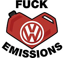 Fuck Emissions, Funny VW Sticker and T-shirts Photographic Print