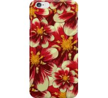 Flowers, Petals, Blossoms - Red White Yellow iPhone Case/Skin