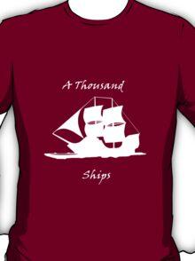 A Thousand Ships T-Shirt In White T-Shirt
