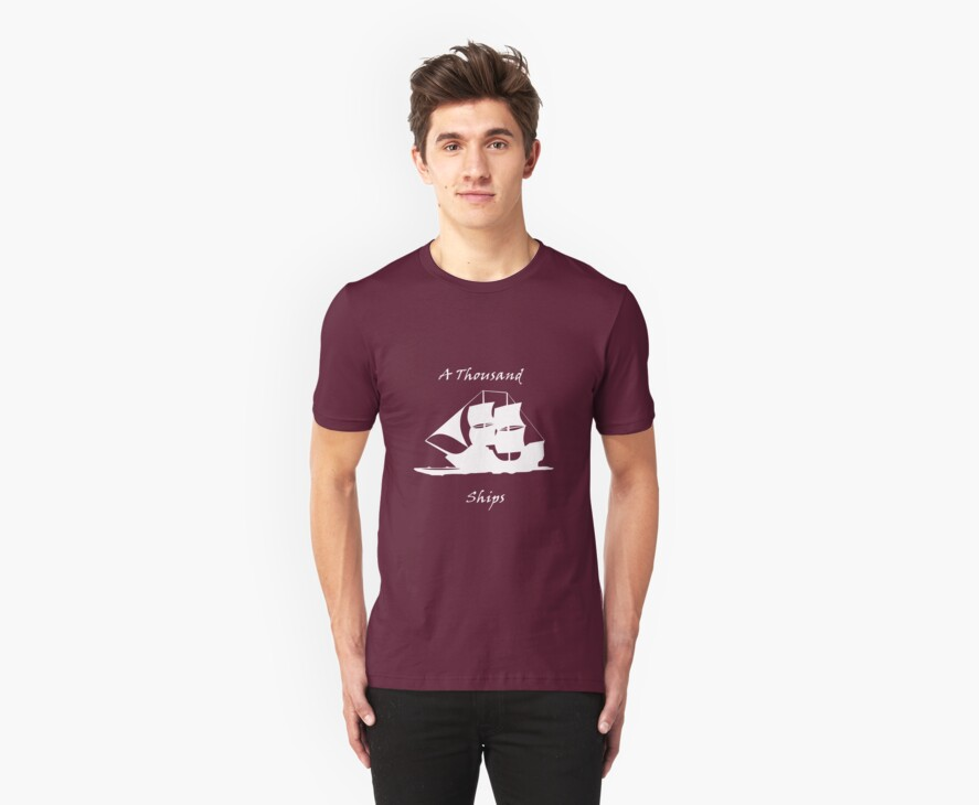 A Thousand Ships T-Shirt In White by athousandships