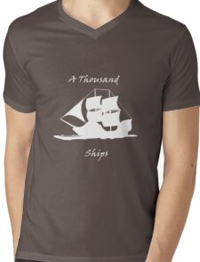 A Thousand Ships T-Shirt In White Mens V-Neck T-Shirt