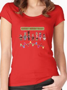 Stop Motion Christmas - Style F Women's Fitted Scoop T-Shirt