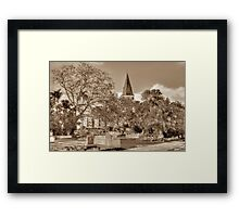 St. Matthew's Anglican Episcopal Church and Eastern Cemetery in Nassau, The Bahamas Framed Print