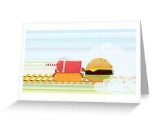 Fast Food Train Greeting Card
