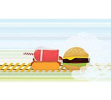 Fast Food Train Photographic Print