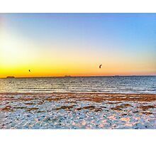 Big ships sailing on the ocean Photographic Print