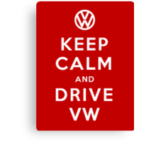 Keep Calm and Drive VW (Version 01) Canvas Print