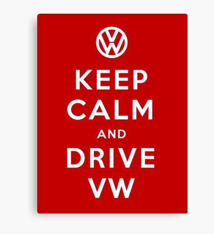 Keep Calm and Drive VW (Version 01) Canvas Print