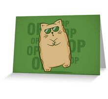 Gangnam Kitty Greeting Card