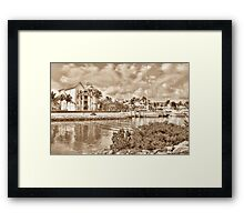 Entrance Canal to Harbour Village on Paradise Island - Nassau, The Bahamas Framed Print