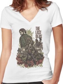 The Last Of Us Artwork Women's Fitted V-Neck T-Shirt