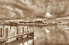 Stormy day at Sandyport Marina Village in Nassau, The Bahamas by 242Digital