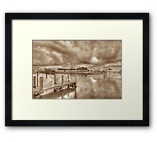 Stormy day at Sandyport Marina Village in Nassau, The Bahamas Framed Print