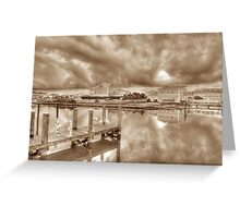 Stormy day at Sandyport Marina Village in Nassau, The Bahamas Greeting Card