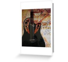 Musical Collage  Greeting Card