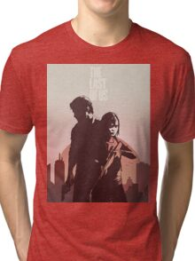 Joel and Ellie The Last of us Tri-blend T-Shirt