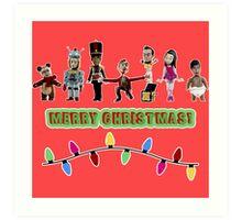 Stop Motion Christmas - Style G Art Print