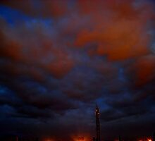 ©HCS Blue and Red Storm Clouds I by OmarHernandez