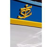 Anchor and heart symbol on side of boat, Brest 2008 maritime festival, France Photographic Print