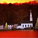Christmas in Cold Spring Harbor New York by Barbny