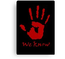We Know Letter (Red) - The Dark Brotherhood Canvas Print