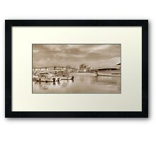 View of Atlantis and Potter's Cay from East Bay Street in Nassau, The Bahamas Framed Print