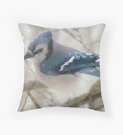 A Blue Gray Day Throw Pillow