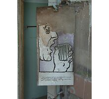 Notice, Pripyat fire station Photographic Print