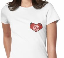 VW Heart Womens Fitted T-Shirt