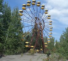 Ferris wheel, Chernobyl exclusion zone by Giles Thomas