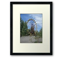 Ferris wheel, Chernobyl exclusion zone Framed Print