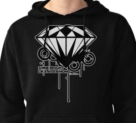 BRIGHT LIKE A DIAMOND Pullover Hoodie