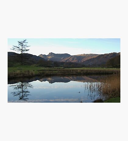 The Langdale Pikes Reflections Cumbria Photographic Print