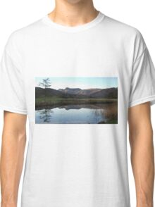 The Langdale Pikes Reflections Cumbria Classic T-Shirt