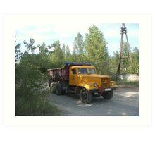 Truck, Chernobyl exclusion zone Art Print