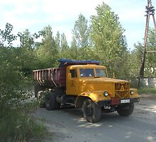 Truck, Chernobyl exclusion zone by Giles Thomas