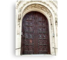 Rosary Cathedral doorway Canvas Print