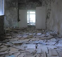 Books, Pripyat secondary school by Giles Thomas