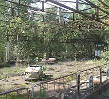 Dodgems/bumper cars, Chernobyl exclusion zone by Giles Thomas