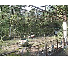 Dodgems/bumper cars, Chernobyl exclusion zone Photographic Print