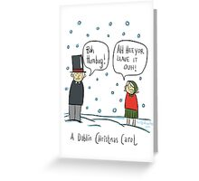 A Dublin Christmas Carol  Greeting Card