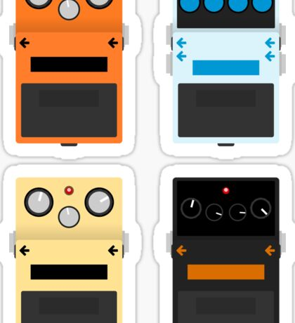 Guitar Pedals - Set #1 Sticker