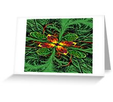 Power Flower Greeting Card