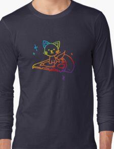 Rainbow Pizza Kitty Long Sleeve T-Shirt