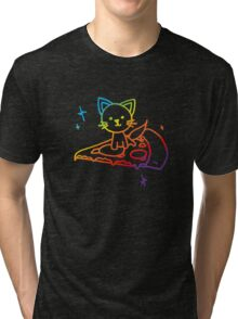 Rainbow Pizza Kitty Tri-blend T-Shirt