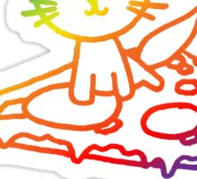 Rainbow Pizza Kitty Sticker