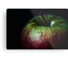 low key apple Metal Print